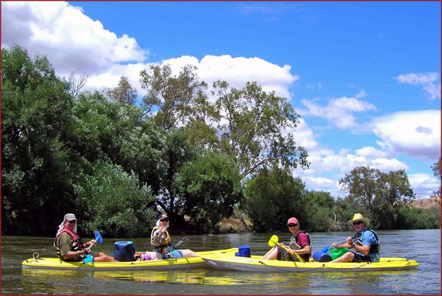 Since we'd been living in the U.S., this was one of our first outings as a Southern Hemisphere family, and the Murray River gave us a warm welcome