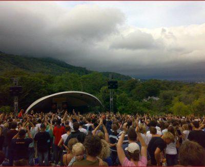 A concert at Kirstenbosch Gardens, Cape Town