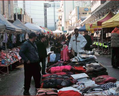 One of the shopping alleys at Dongdaemun Market
