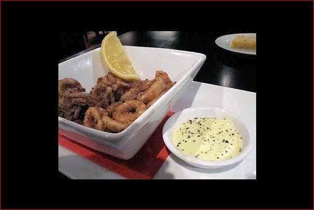 Calamari with lemon aioli