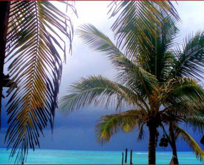 Playa del Carmen before rain