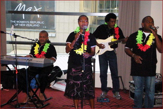 Band in Wellington, turning up sweet island vibes of Vanuatu