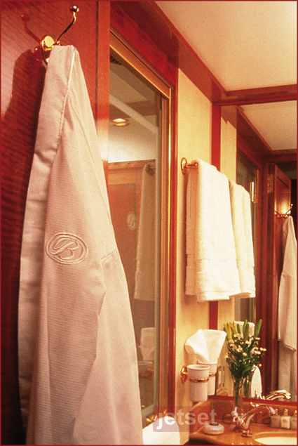 Luxury Train Rides Around the World: Deluxe Bathroom Shower