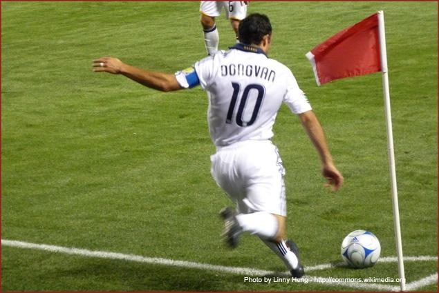 Team USA Captain Landon Donovan is focused