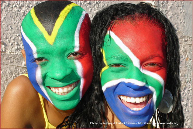The World Cup in South Africa, first ever in an African country
