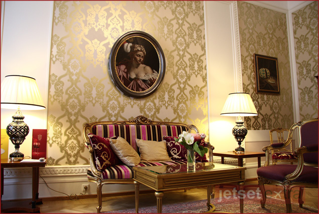 The Living Room in the Faberge Suite, Grand Hotel Europe