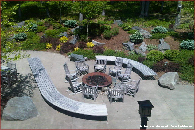 Outdoor seating at Woodloch