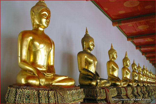 Seated Buddhas at Wah Pho