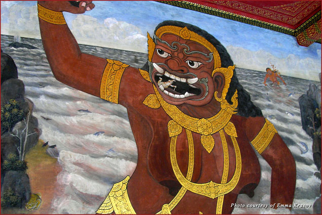 Murals depicted the magic kingdom of Ramayana