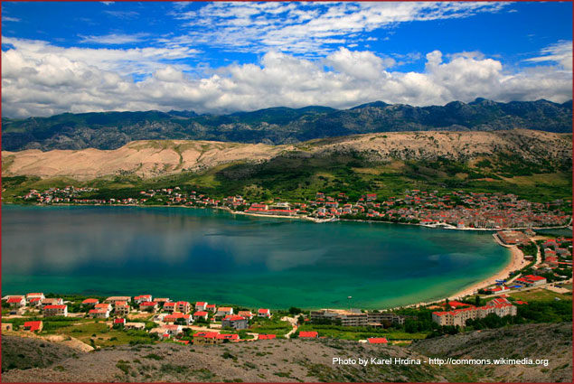 The beaches of Pag Island in Croatia are a summer hot spot