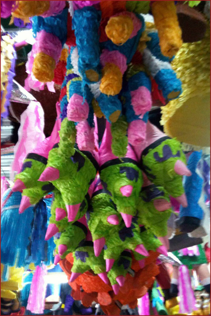 Varieties of piñatas to choose from