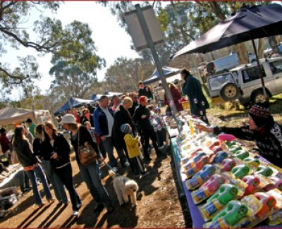 Shoppers take a Sunday stroll at the Hall Markets, Australia's largest craft and home produce markets