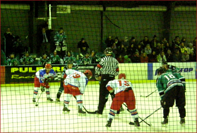 The Newcastle North Stars face off against the Canberra Knights in a fast-paced game between the two Australian Ice Hockey League (AIHL) teams