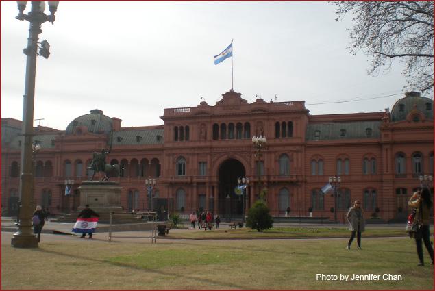 The Pink House or La Casa Rosada