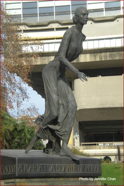 Evita Perón dedication park
