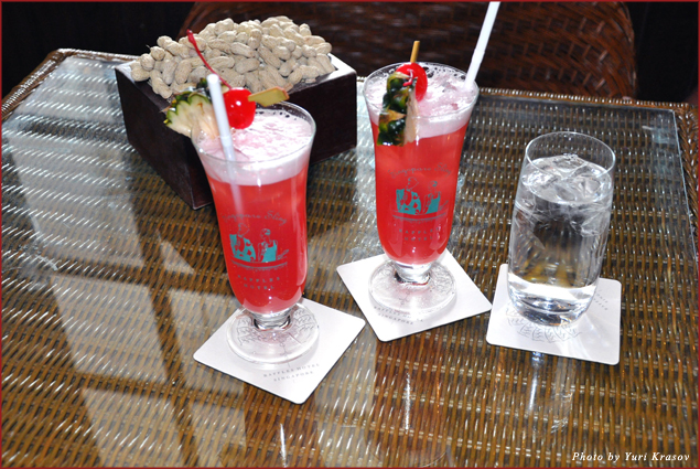 Singapore Sling at the Long Bar