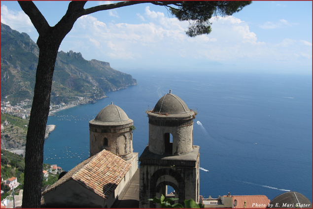 View from Ravello Gardens, Amalfi Coast