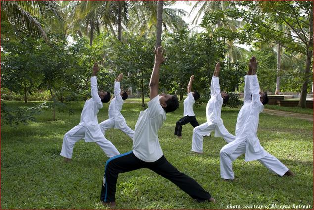 Yoga at Shreyas Retreat