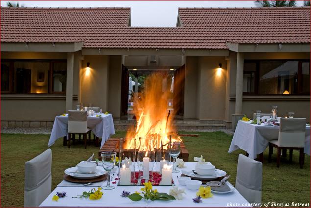 Dining at Shreyas Retreat