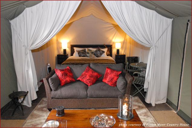 Canvas Lodge Interior at Pentre Mawr
