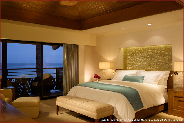 A Deluxe  King Room at Koa Kea Resort