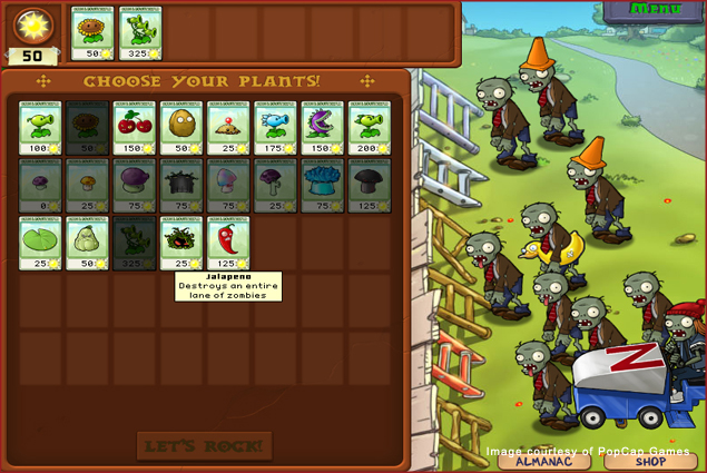 Plants vs Zombies from PopCap Games