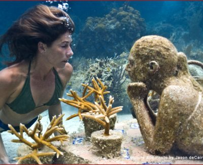 The Gardener of Hope, part of the Underwater Sculpture Museum
