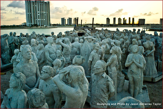 200 life-sized sculptures wait to be sunk into the ocean