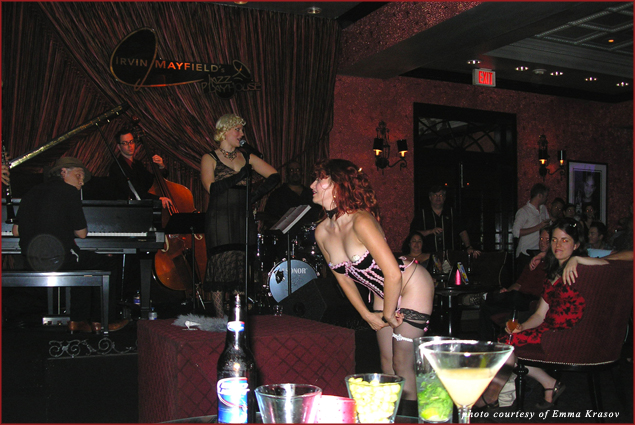 Burlesque Ballroom dancer at Royal Sonesta Hotel Irvin Mayfield's Jazz Playhouse