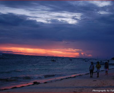Sunset at Alona Beach