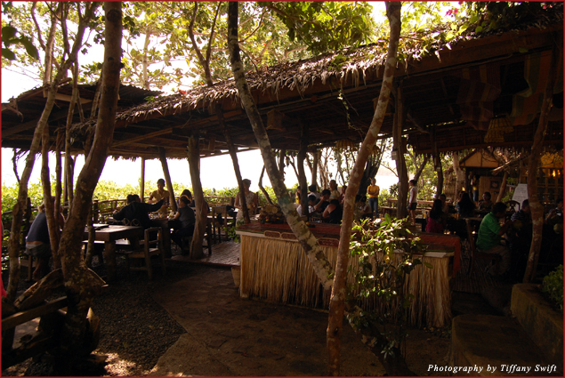 Bohol Bee Farm's restaurant overlooking the ocean