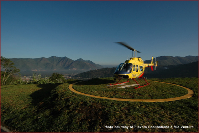 Travel by helicopter with Elevate Destinations