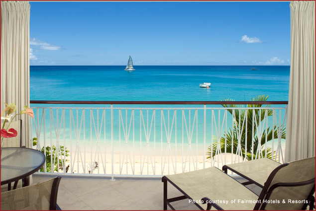 Beautiful beach views at the Fairmont Royal Pavilion in Barbados