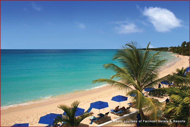 Beaches at Fairmont Royal Pavilion in Barbados