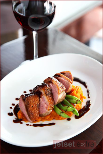 Duck breast with chipotle, tequila, and honey