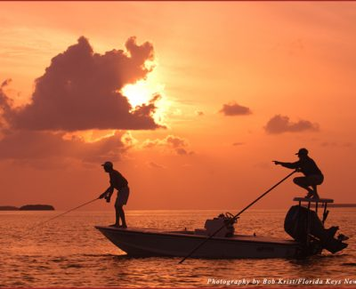 Fishing at sunset in the Florida Keys