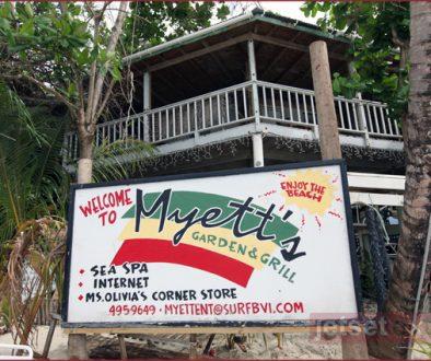 Myett's Garden Grille, Cane Garden Bay
