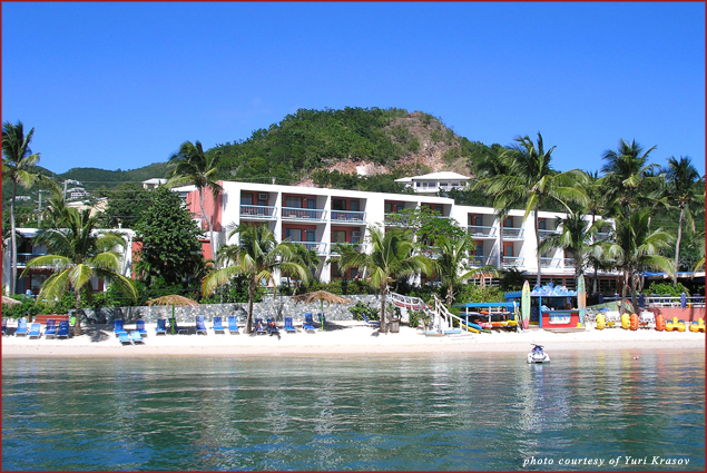 Bolongo Bay Beach Resort on St. Thomas Island, US Virgin Islands