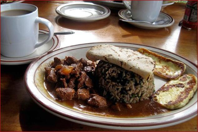 Breakfast--Costa Rican style
