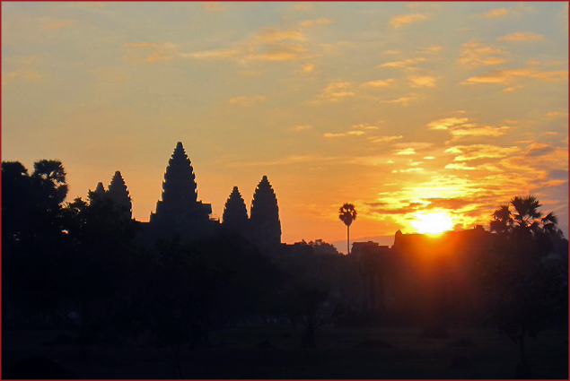 Sunset in Siem Reap, Cambodia