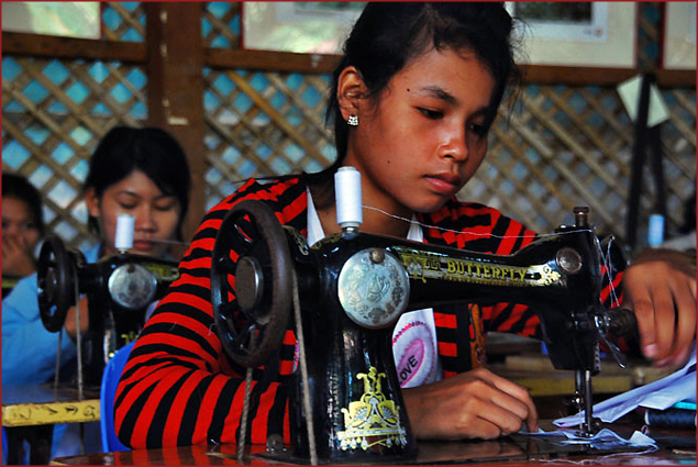 Sewing School at Wat Damnak
