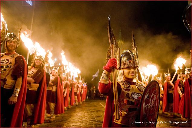 Edinburghs Hogmanay, Torchlight Procession up Helly Aa Vikings