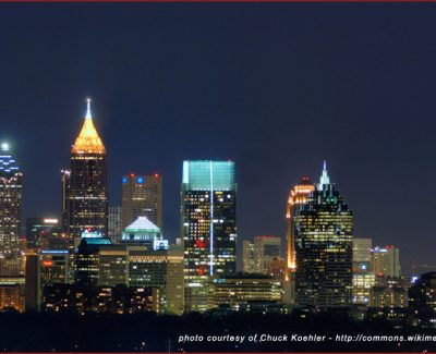 Atlanta skyline from Buckhead, Georgia