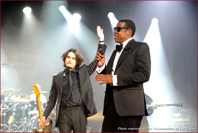John Mayer Joins JAY-Z onstage at The Cosmopolitan of Las Vegas New Year's Eve Bash