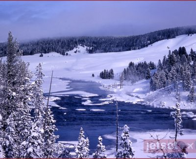 Winter in Yellowstone, Wyoming
