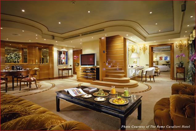 The Rome Cavalieri Penthouse Suite