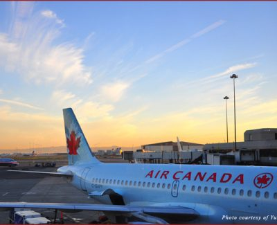 At dawn at SFO we were waiting to board Air Canada to Quebec