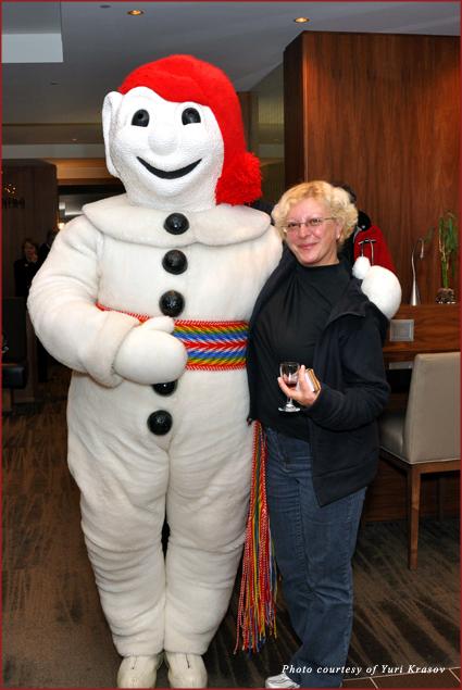 Emma Krasov with Bonhomme Carnaval