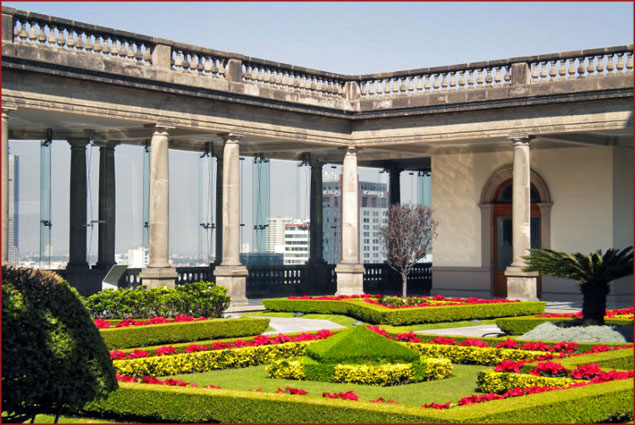 Garden at the Castle of Chapultepec