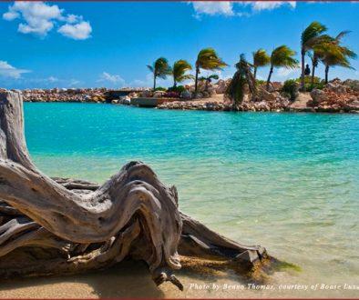 A view of Bibis Island in Curacao, Caribbean